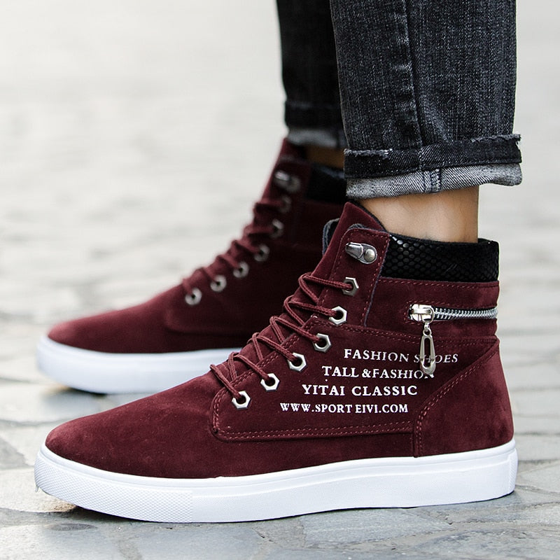 fad1e4f71 GOXPACER Autumn New Men Shoes Casual Shoes Lace-up Flat Heel Snake Pattern  Shoes Fashion. Hover to zoom