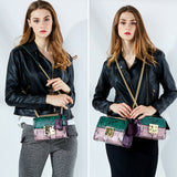 Generation of contract package female snake grain leather 2018 new leather chain bag fashion shoulder messenger bag Female bag