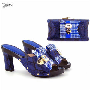 9bab8f40d4f Graceful party set high heel party sandal shoes with evening bag set for  lady 567 heel ...