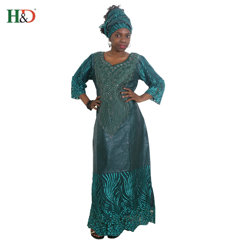 ba761d20944 Hover to zoom · H amp D african dresses for women african head wraps robe  africaine beading lace bazin outfit