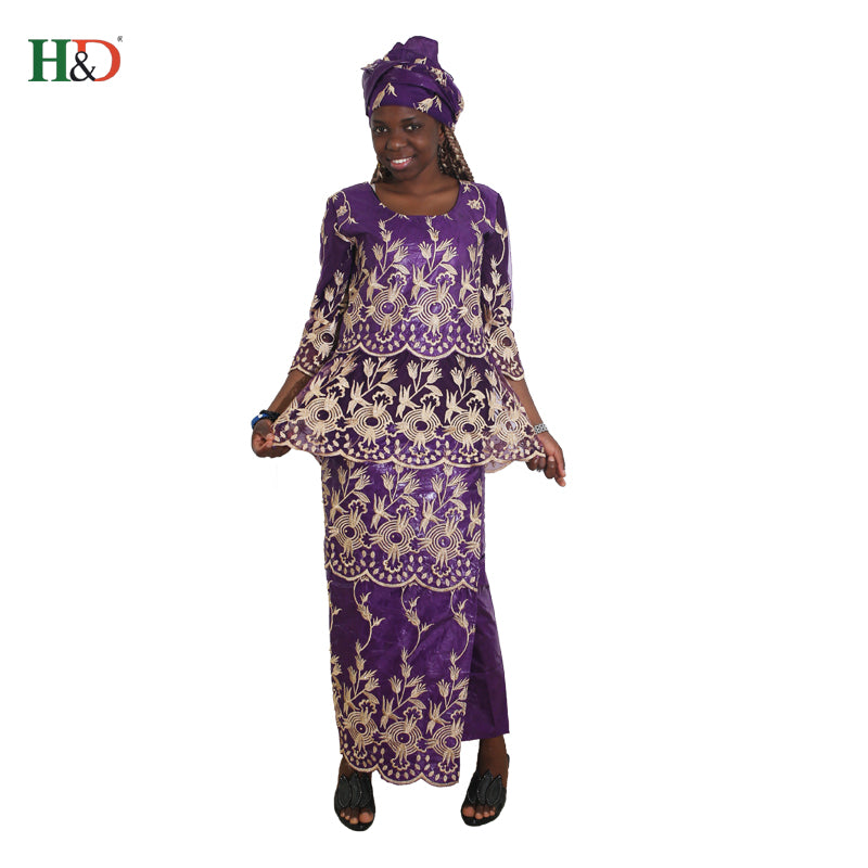 fea9274770848 south africa clothing african dresses for women bazin riche robe africaine  femme 2018 lace beading dress scarf head wraps