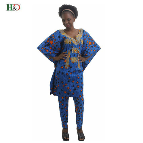 H&D2018 african dresses for women clothes 100% cotton bazin printed dashiki cloak style dashiki dress for lady women wax clothes