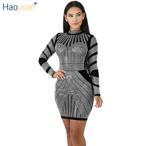 5afa9a6a9 Casual Bodycon Dress Women Clothes Fall 2018 Autumn Winter Long Sleeve  Elegant Robe Sexy Club Christmas ...