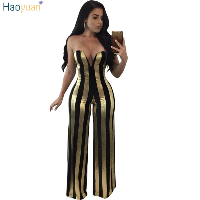 8df0041732b ... Womens Jumpsuit Elegant Off Shoulder Sexy Bodysuit Party Overalls  Female Wide. Hover to zoom