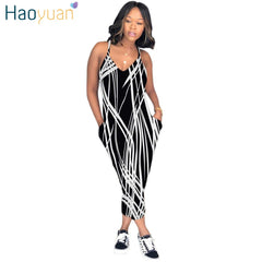 03457d636ea HAOYUAN Plus Size Sexy Spaghetti Strap Rompers Womens Jumpsuit Rainbow Tie  Dye Print Backless Leotard Overalls ...