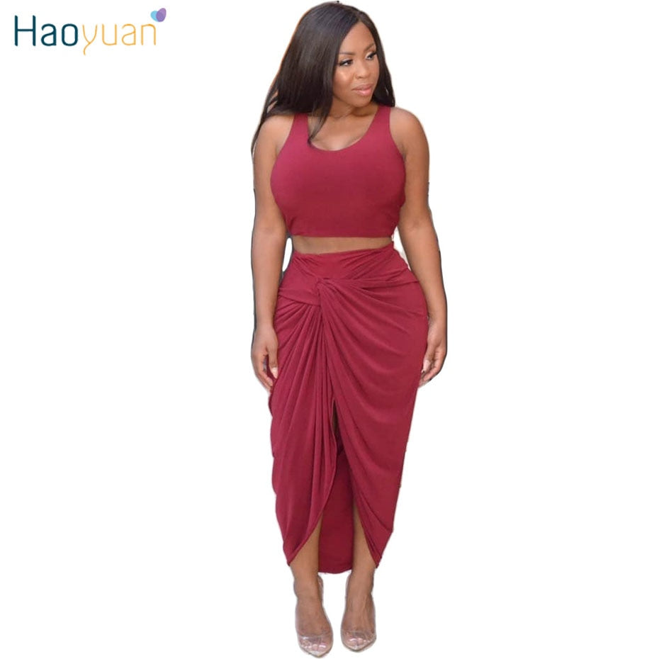 7cb829ab2 Two Piece Irregular Bodycon Maxi Dress Women Vestidos Robe Sexy Club Long  Summer Dresses Package Hip. Hover to zoom