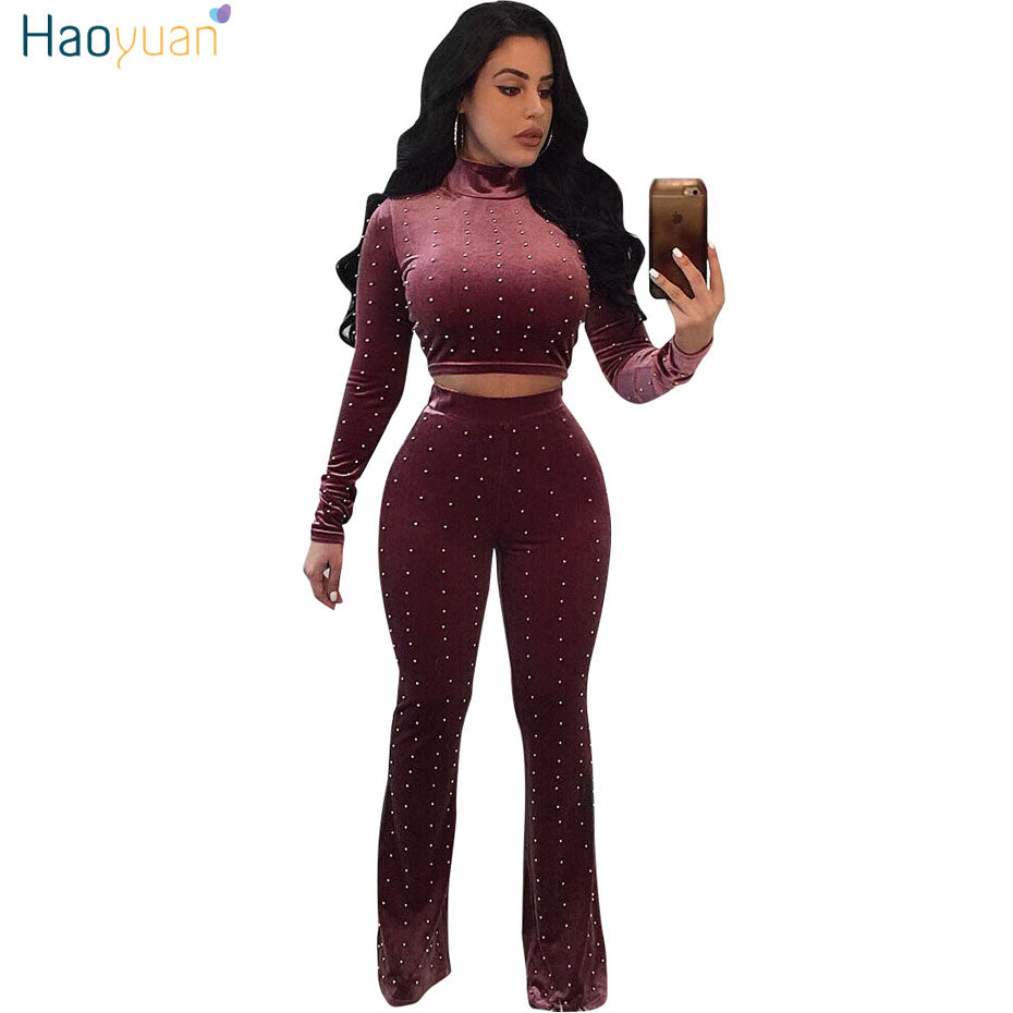 Sexy velour tracksuit