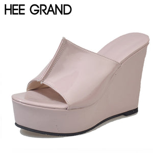 60a6bfb7e6 HEE GRAND Summer Rubber Sandals 2018 Beach Wedges Slides Slip On Casual  Creepers Platform Shoes Woman ...