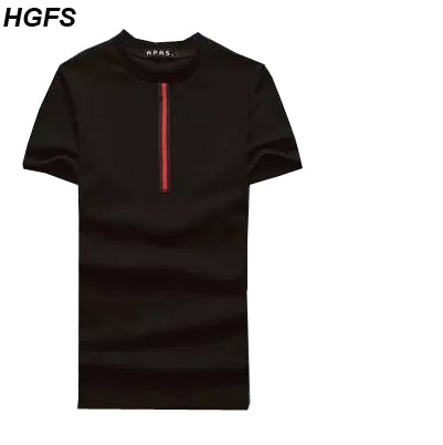 HGFS Mens Striped Short-Sleeved T-Shirt 2018 Man  Fitness T-shirt Bodybuilding Compression Funny T Shirt
