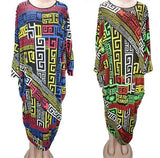 Geometric Ethnic print pattern Women Elegant Elastic Party Bodycon Dress