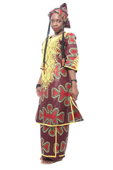 African Ankara Top and wrapper Skirt set, Ankara Wrapper Skirt Set,Skirt and Blouse,African Dress, Shaped Ankara Dress, African Fashion, African Clothing.