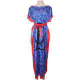 Elastic bats sleeve loose Long Dress,Size XS - 5XL