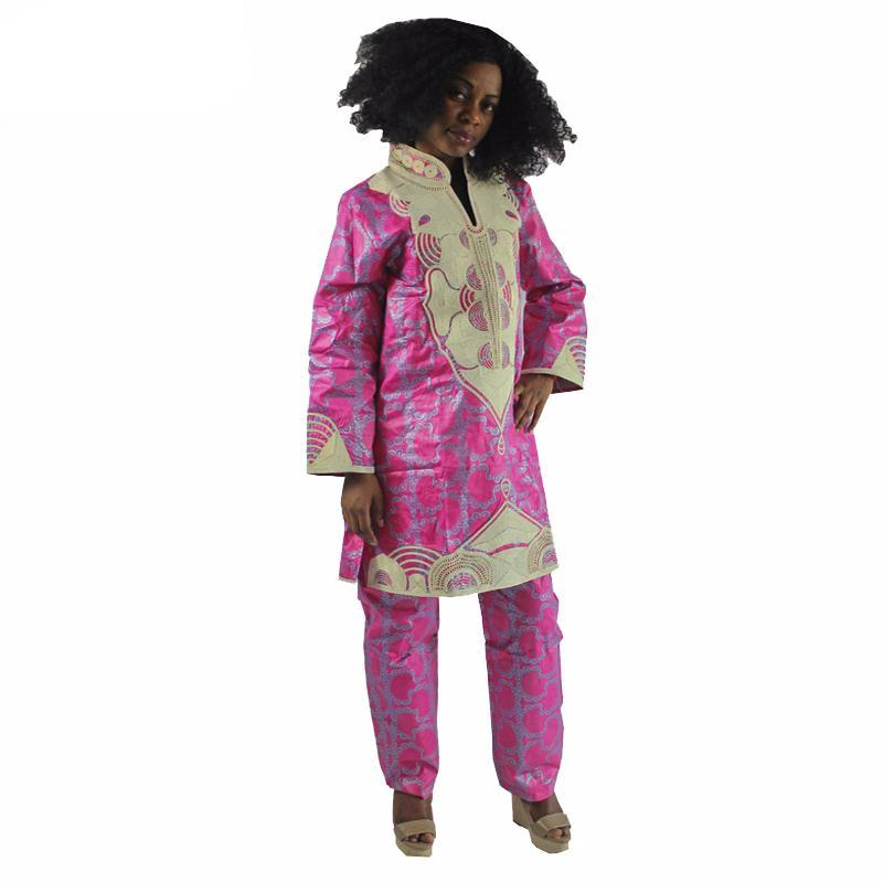 Africa Dashiki Fashion Lady Brocade Long Sleeve Dress and Pant Africa Dress,Africa embroidered Clothing