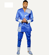 Beautiful African Men's Embroidery Long Sleeve Shirt -OW907 - Owame