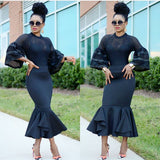 Elegant Lady maxi outfit dress gown mermaid robe dress