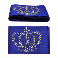 1pc pack  - Aso Oke with stones Headtie gele Wrapper Scarf 6.8meters length
