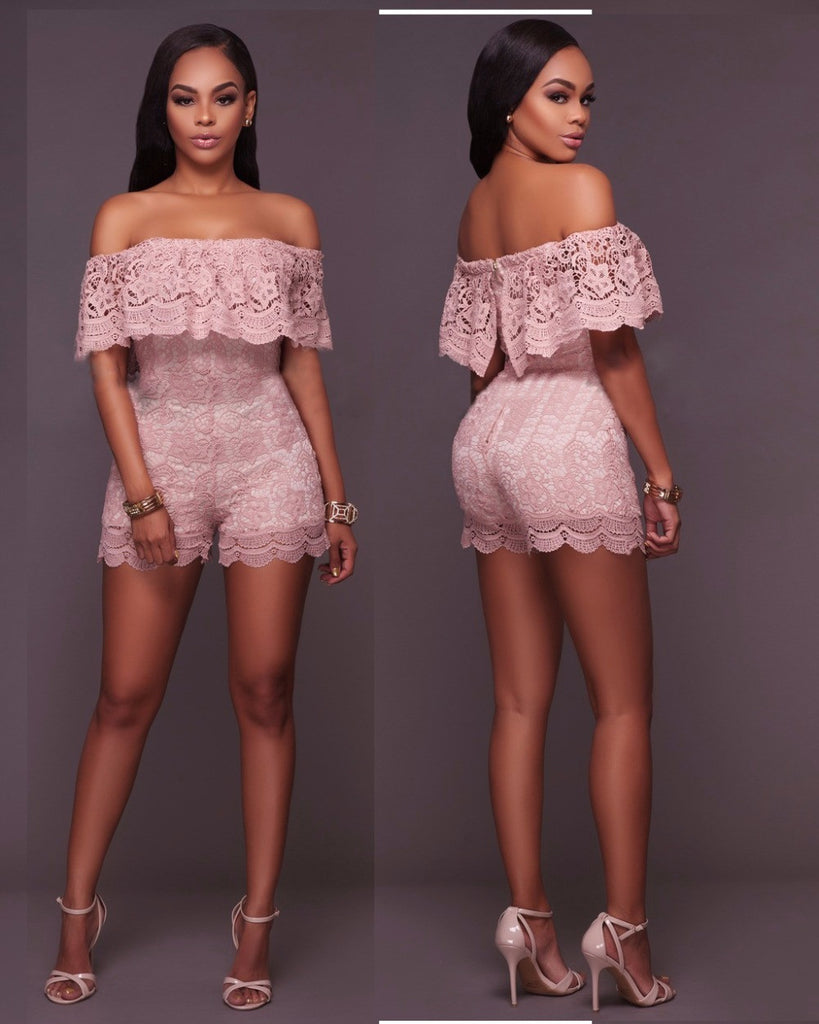 Lace Short Jumpsuits - Owame