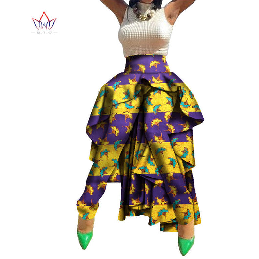African Print Pants Dashiki Long Traditional Africa Clothing Bazin Plus Size Tuxedo Pants for Women