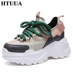 HTUUA 2018 Spring Autumn Women Casual Shoes Comfortable Platform Shoes Woman  Sneakers Ladies Trainers chaussure femme ... a0e11ac520a7