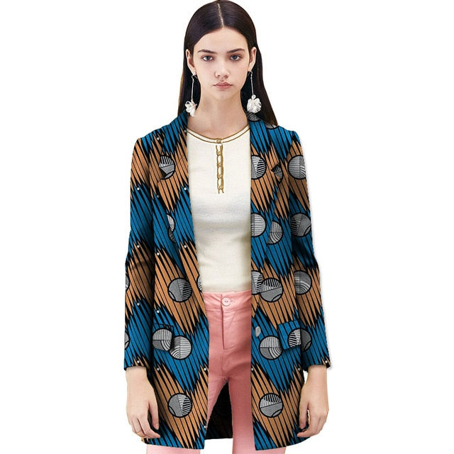 6cd083a4ab1b9 Hover to zoom. PrevNext. Image of Handmade women trench coat african print  fashion design long jacket for ladies casual dashiki ...
