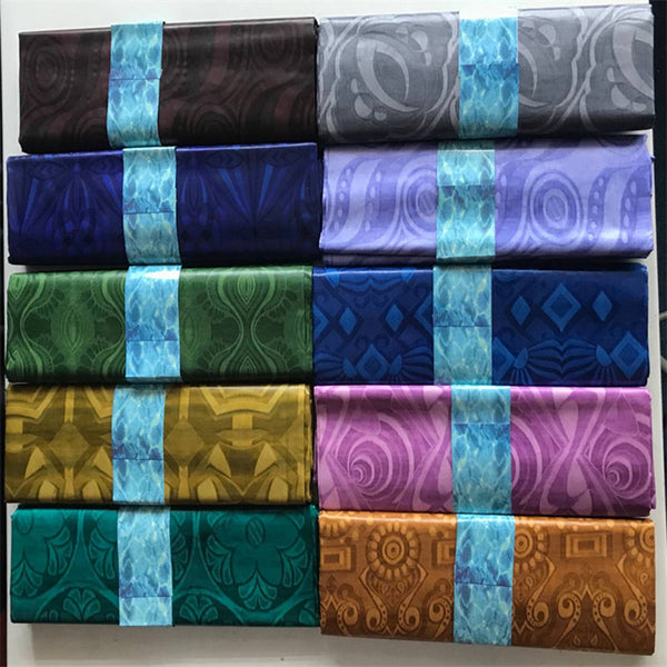 High Grade African 100% Cotton Handmade Bazin Riche Getzner Lace Damask Shadda Guinea Brocade Fabric for Men in 5 Yards AB65