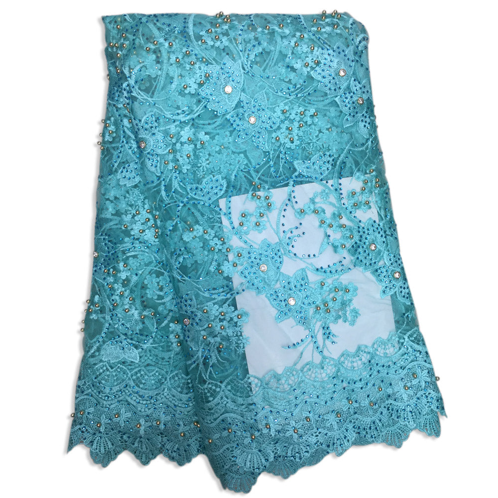 High Quality African French Lace Embroidered Tulle Fabric, Lots Of ...
