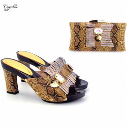 High class coffee high heel pumps shoes matching with evening bag set for fashion lady 567,heel height 10cm, 11 color