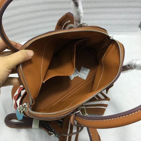 High-quality female PU leather handbag cartoon shark model zipper large-capacity women wide shoulder bag 30CM with two shoulder