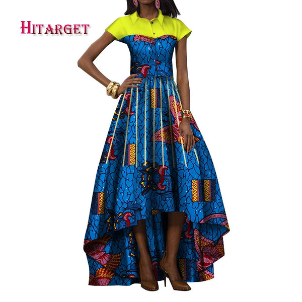 Hitarget 2019 dress for women african print clothing Dashiki women clothes cotton african print long dress plus  size 5XL WY391