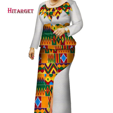 Hitarget Danshiki African Women Dresses with Lace and Splicing 2 Pieces African Traditional Clothing for Party/wedding  WY4122