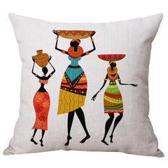 Home Decoration, Beautiful African Women Ethnic style Art images Linen  Pillow Cover Car Cushion Sofa Pillow woman#3