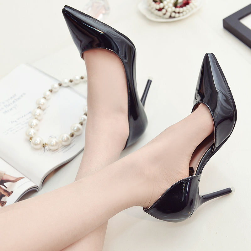 ... Hot 2018 Spring Autumn Women Pumps Sexy Gold Silver High Heels Shoes  Fashion Pointed Toe Wedding ... 9ae8d6555563