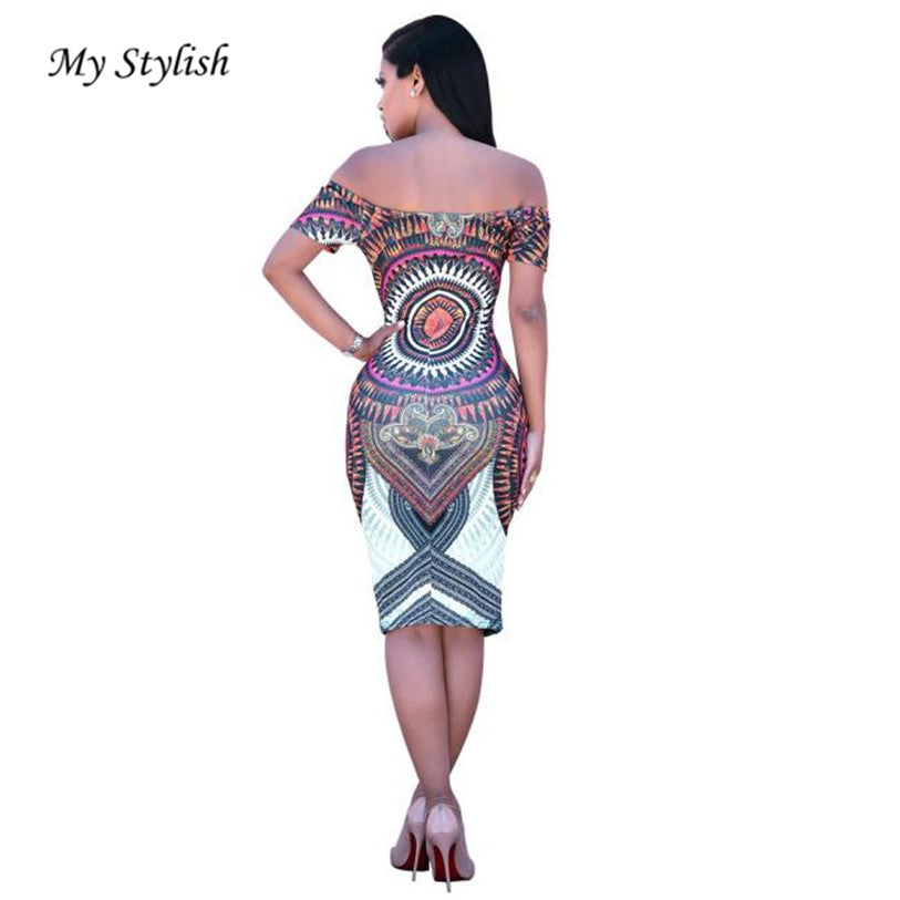 75b062f325c 2017 New Fashion Women Traditional African Print Dashiki Bodycon Sexy Short  Sleeve Dress ...