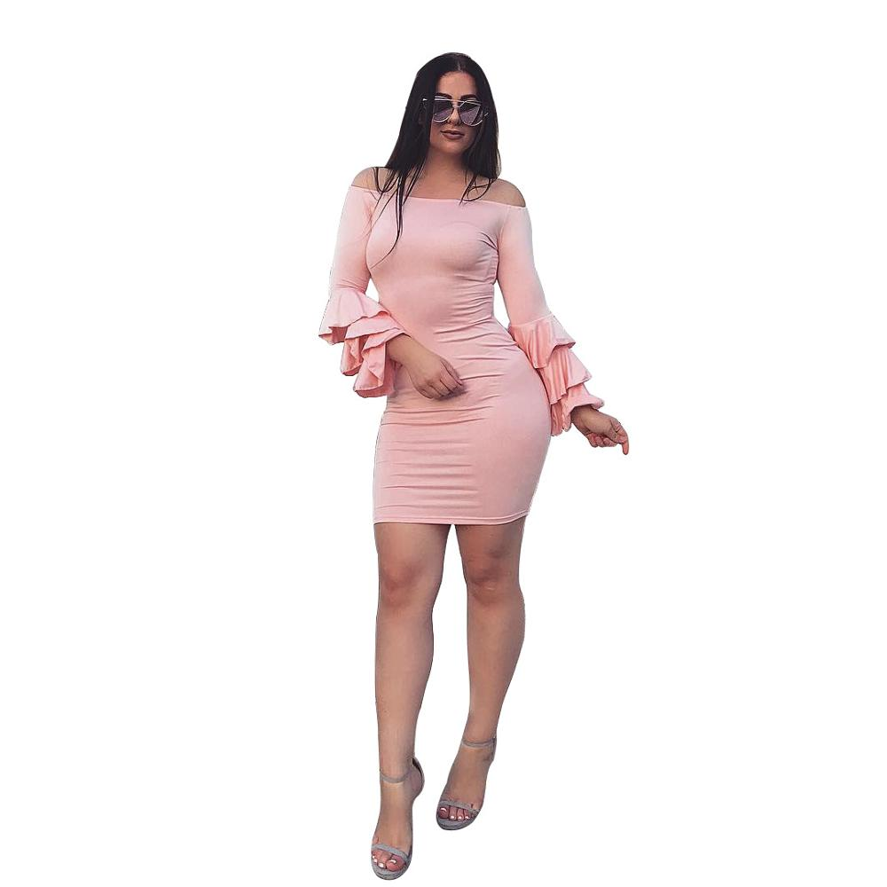 95e520e6ab7 Hot Pink Long Sleeve Party Dress - Gomes Weine AG
