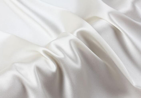 Howmay silk fabric satin 12m/m 90cm 140cm 100% pure charmeuse natural white for sewing DIY handmade scarf shawl or dress