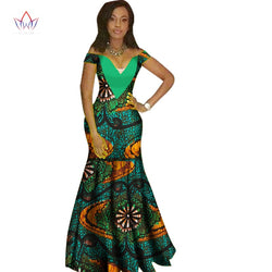 In Stock Woman Long Maxi Skirt For Women African Dashiki For Women Bazin Riche Robe Longue Femme Plus Size Skirt Natural Wy1231