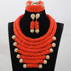 Image of Indian Crystal Red African Beads Statement Jewelry Sets Bib Necklace Set Women Event Party Jewelry Set Free Shipping ABH460