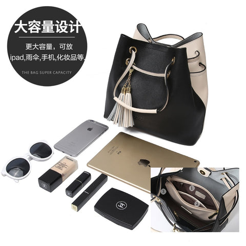 Jane show  women 2018 new leather single shoulder slung steamed stuffed bun mother bag leisure bag ladies bag