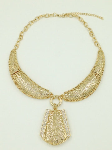 Jewelry Sets for Women African Beads Crystal Hollow Charms Nigeria Necklace Earrings Wedding Brides Jewellery Sets