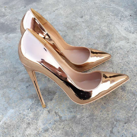 Keshangjia new spring and autumn new High thin heels with mouth low solemn tip mirror sexy fashion shoes