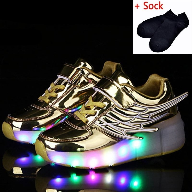 522dd2308da3 ... Kids Glowing Sneakers Sneakers with wheels Led Light up Roller Skates  Sport Luminous Lighted Shoes for ...