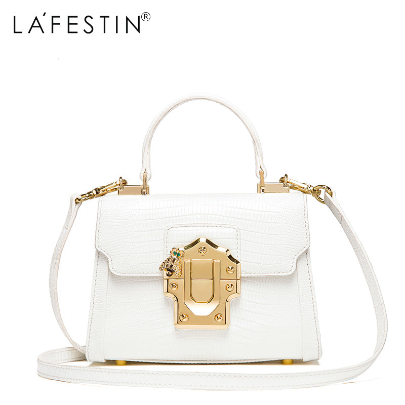 ... LAFESTIN Designer Serpentine Lock Handbag Real Leather Bag 2017 Fashion Women  Bags Shoulder Luxury brands Bag ... 8c6ff4a3e60c