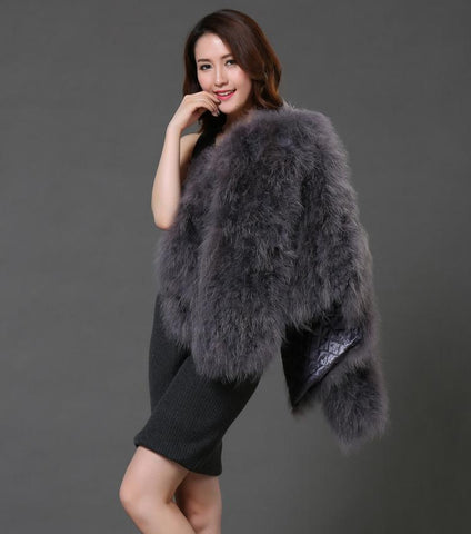 2e6326ce569 ... Image of LET-SETTING 20 colors fashion sexy Ostrich wool turkey fur women  coat feather ...