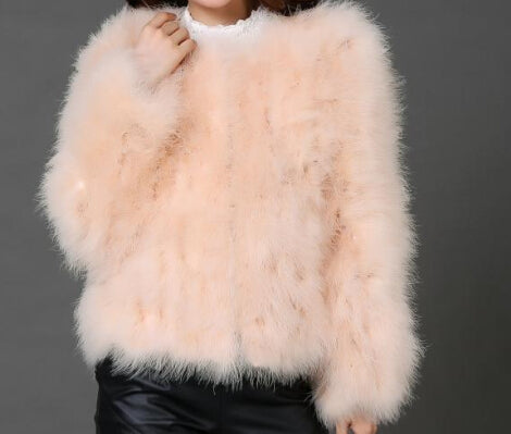 619817f215628 ... LET-SETTING 20 colors fashion sexy Ostrich wool turkey fur women coat  feather short plus ...