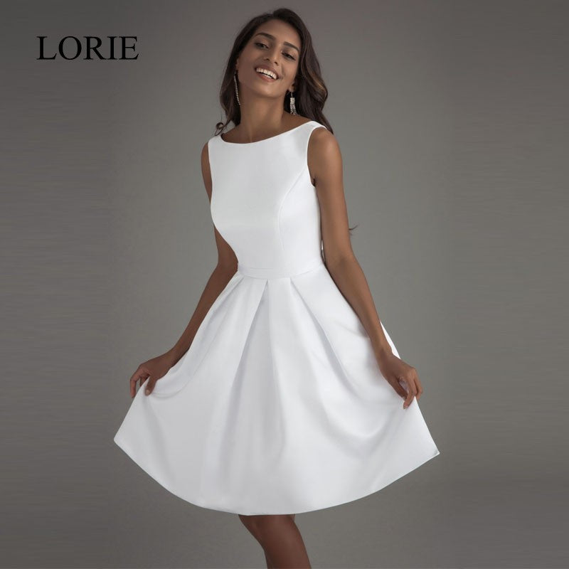 good lorie cheap short wedding dresses open back robe de mariage simple  backless satin bridal dress with robe simple 0edc3c7843c1