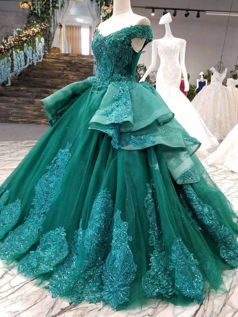 LSS006 vestidos de festa longo emerald evening dress long lace ...