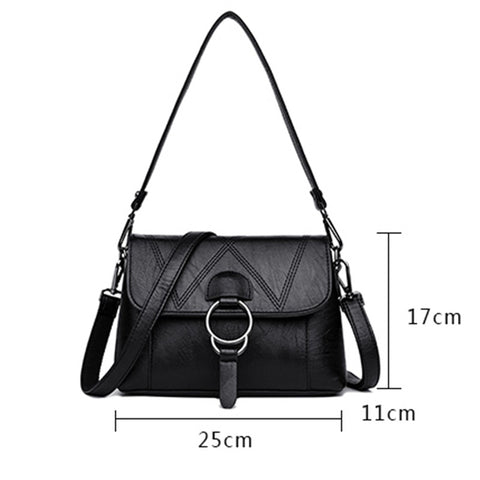 Ladies Genuine Leather Handbags Designer Luxury Bags For Women 2018 Women Messenger Shoulder Bag Top-handle Bags Flap Sac A Main
