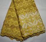 Latest 100% high quality african swiss design guipure lace fabric with stones lace fabric for fashion wedding