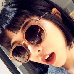 LeonLion New Vintage Round Transparent Sunglasses Women Brand Designer Classic Candy Color Sun Glasses Driving Glasses