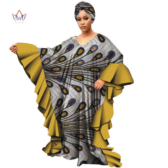 Long Sleeve Dresses for Women Casual Date Dashiki African Women Loose Plus  Size Dresses Robe African Dresses for Women WY4701
